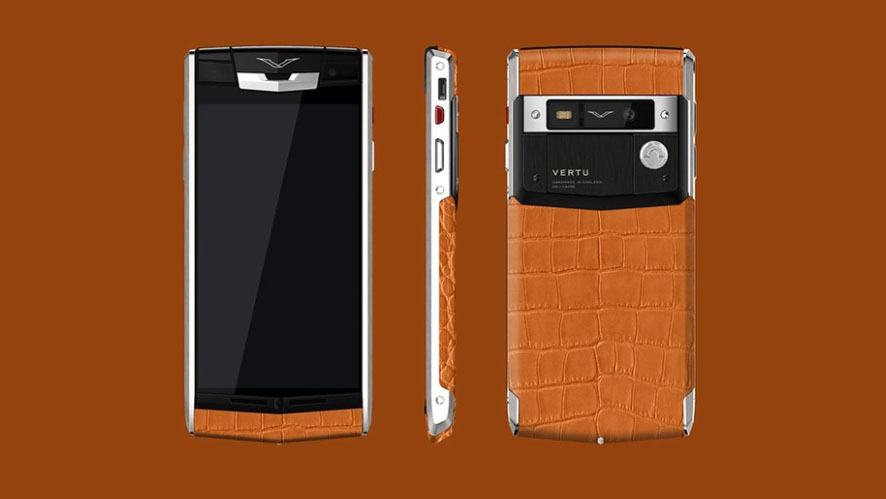 Vertu Signature Touch Tangerine Alligator — вдохновение цветом