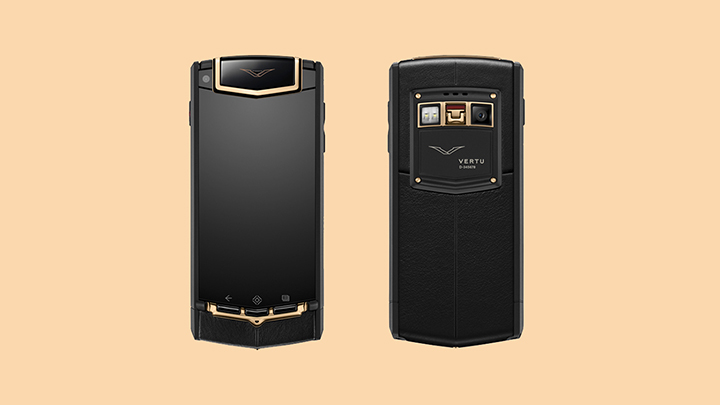 Vertu TI Black PVD Titanium Red Gold