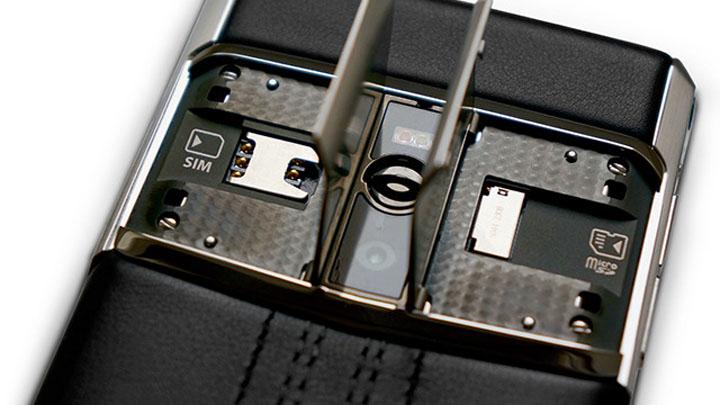 Слоты для карт памяти и SIM-карты с «Крыльями чайки»