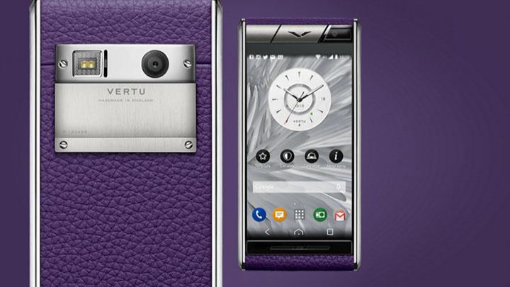 Vertu Aster Purple Calf — телячья кожа сливового цвета