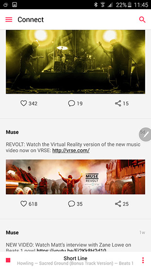 Немного скриншотов Apple Music для Android:
