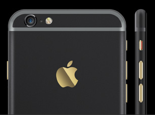 iPhone Ultimate black & gold