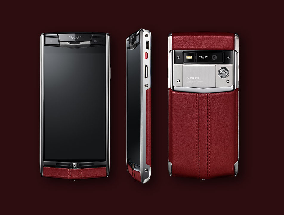 Vertu Signature Touch 2014 Claret leather