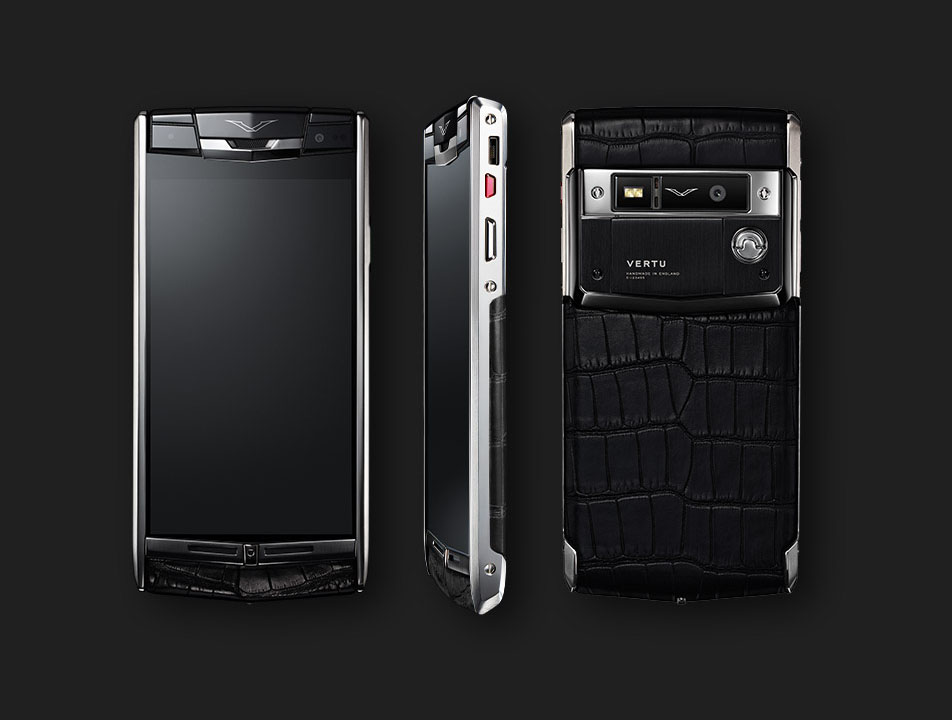 Vertu Signature Touch 2014 Jet alligator