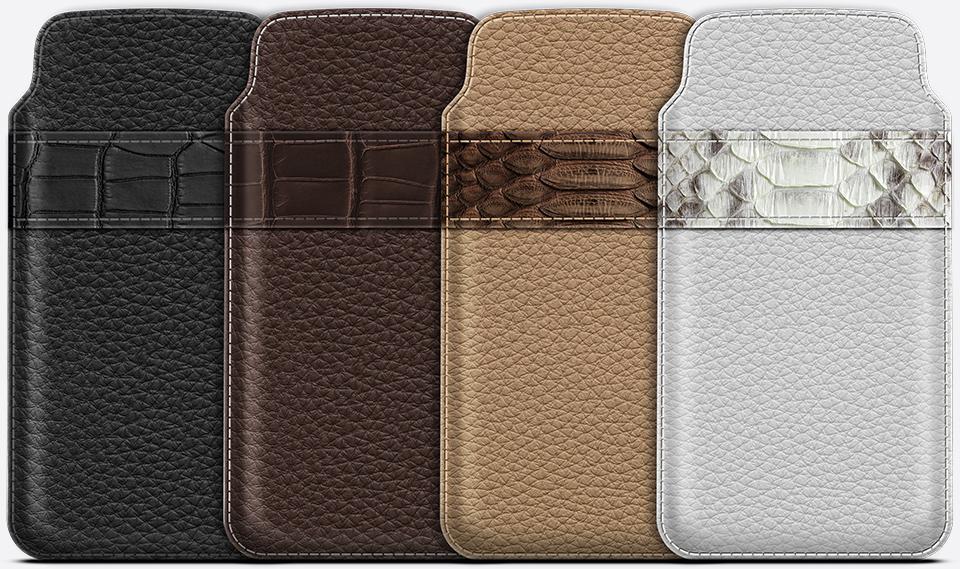 Чехлы из экзотической кожи крокодила, каймана, змеи для iPhone 6 и 6 Plus