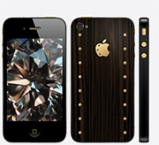 iPhone 4s Gold Carbonado