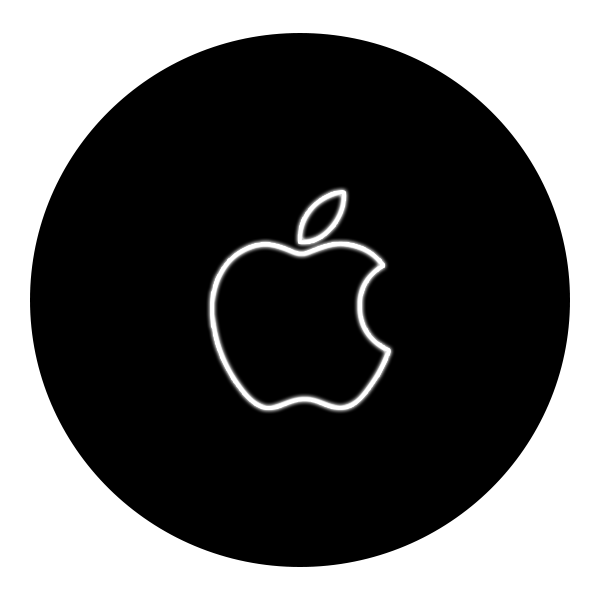 Контурный светящийся логотип