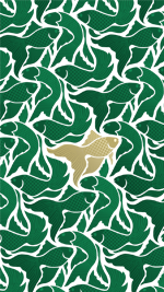 Emerald gold fish white