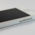 Лазерная гравировка на рамке iPhone 5s белом