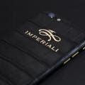 Обтяжка iPhone кожей аллигатора и логотип из золота