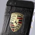 Логотип Porsche с эмалью
