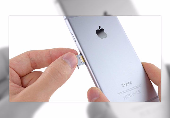 Замена SIM-карты на iPhone 6 и iPhone 6 Plus