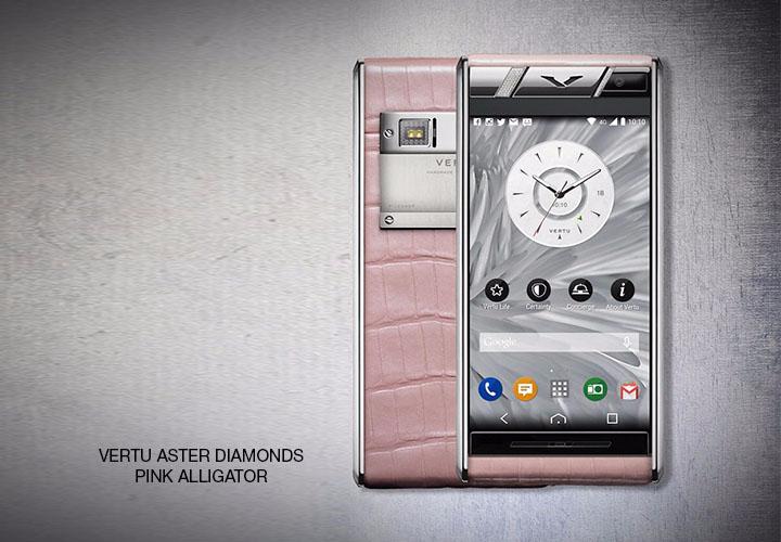 Представлен Vertu Aster Diamonds Pink Alligator