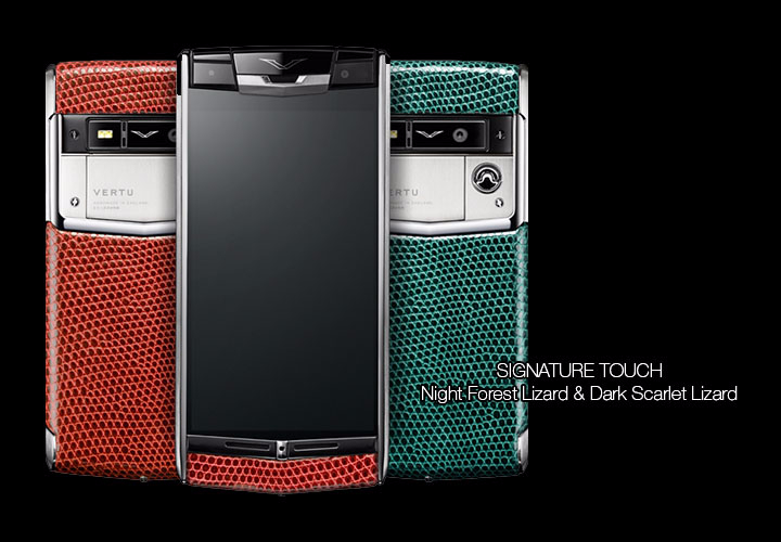 Представлены Vertu Signature Touch Night Forest Lizard и Dark Scarlet Lizard