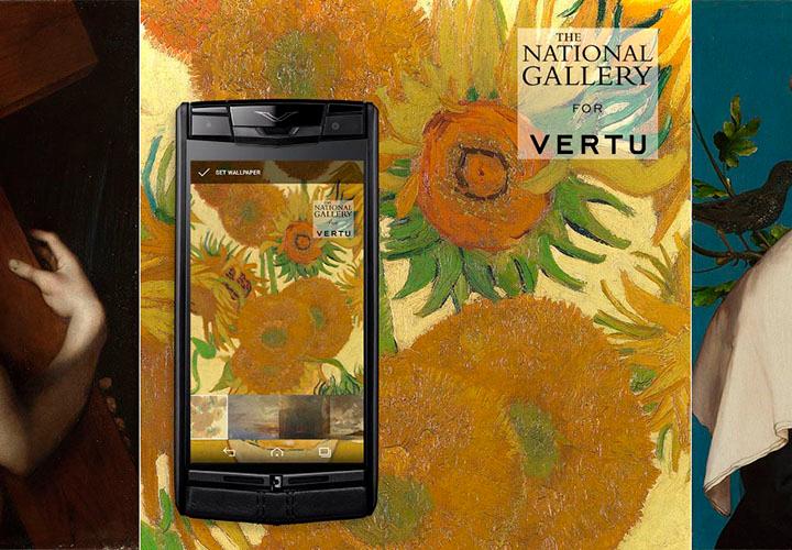 Лондонская национальная галерея на экране Vertu