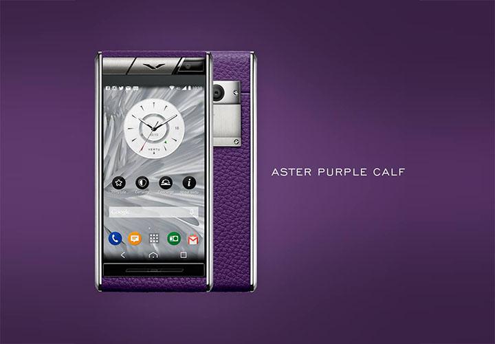 Vertu Aster Purple Calf — вдохновленный взлетно-посадочной полосой