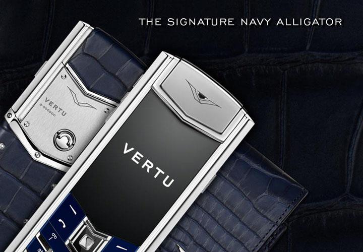 Представлен Vertu Signature S Navy Alligator
