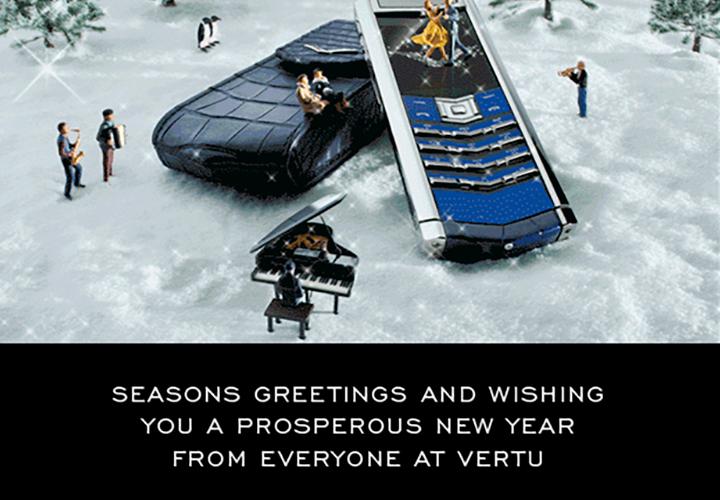 Vertu объявила сезон новогодних поздравлений открытым