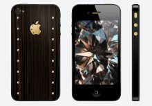 iPhone 4s Gold Power Carbonado