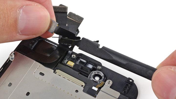 замена передней камеры iphone 5s