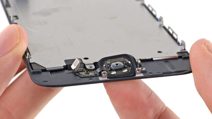 замена шлейфа кнопки на iphone 4