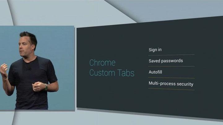 Chrome Custom Tabs — быстрый доступ к сайтам