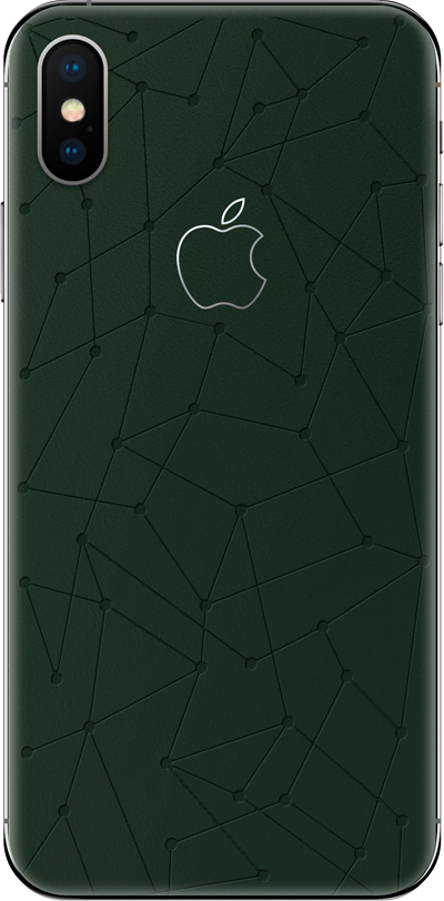 Модель iPhone Xs & Xs Max Low Poly Green