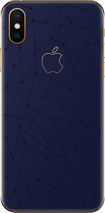 Модель iPhone Xs & Xs Max Low Poly Midnight blue