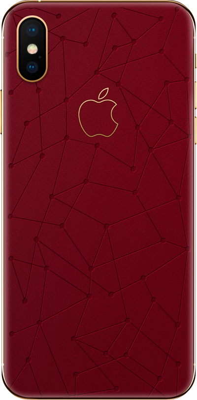 Модель iPhone Xs & Xs Max Low Poly Red