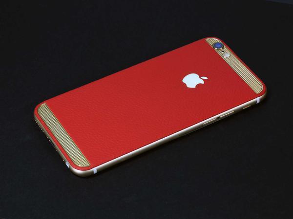 iPhone 6 из красной кожи