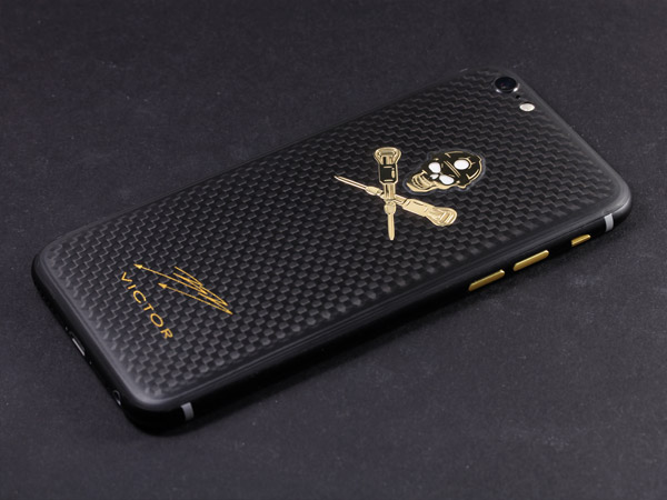 iPhone Gold&Carbon
